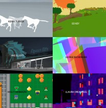 a screenshot of games of each of the makers I'm walking with